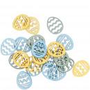 groothandel Woondecoratie: Houten eiermarlijn om te strooien, 3 kleuren, 144